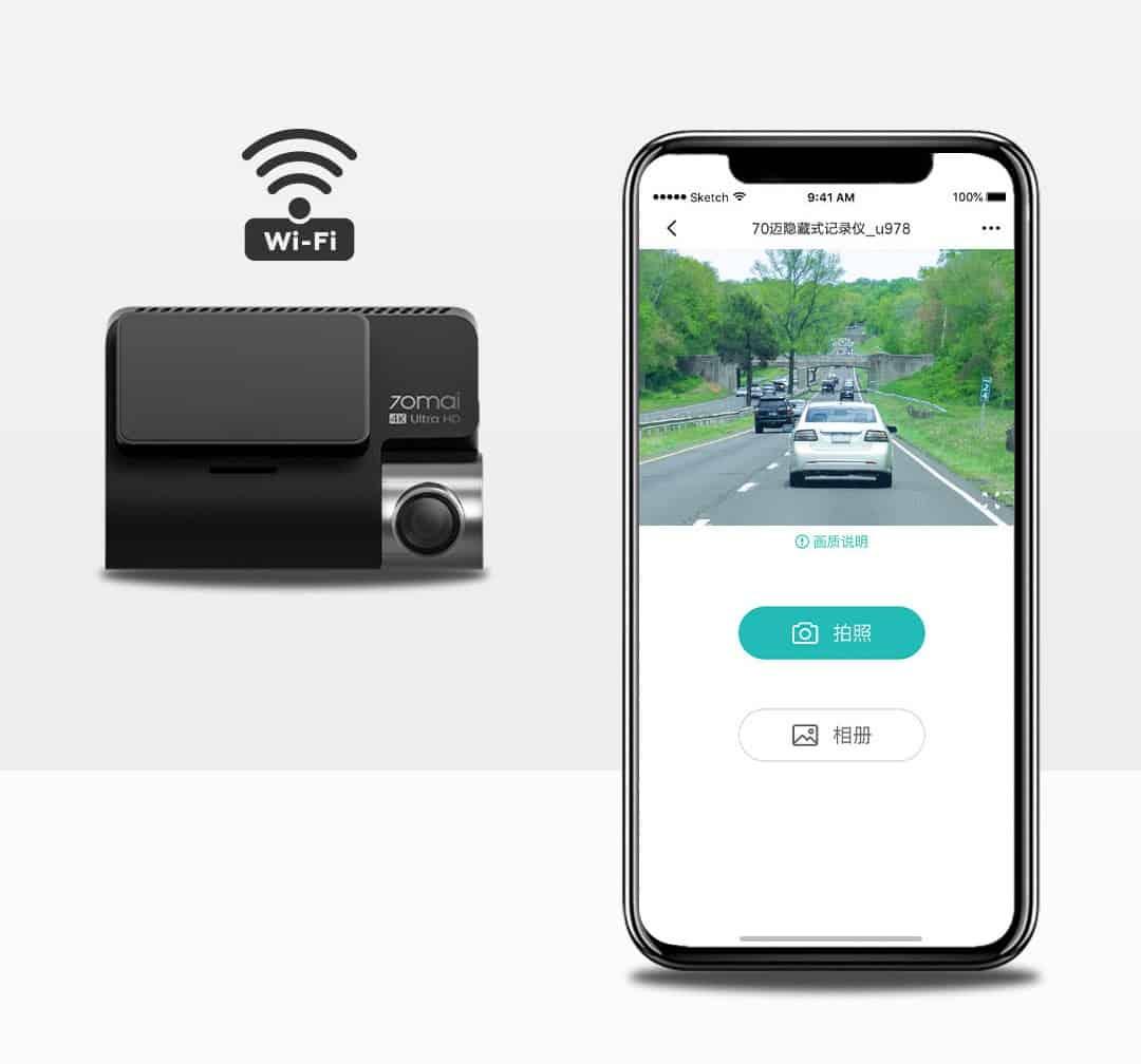 Camera hành trình ô tô 4K 70MAI A800 9
