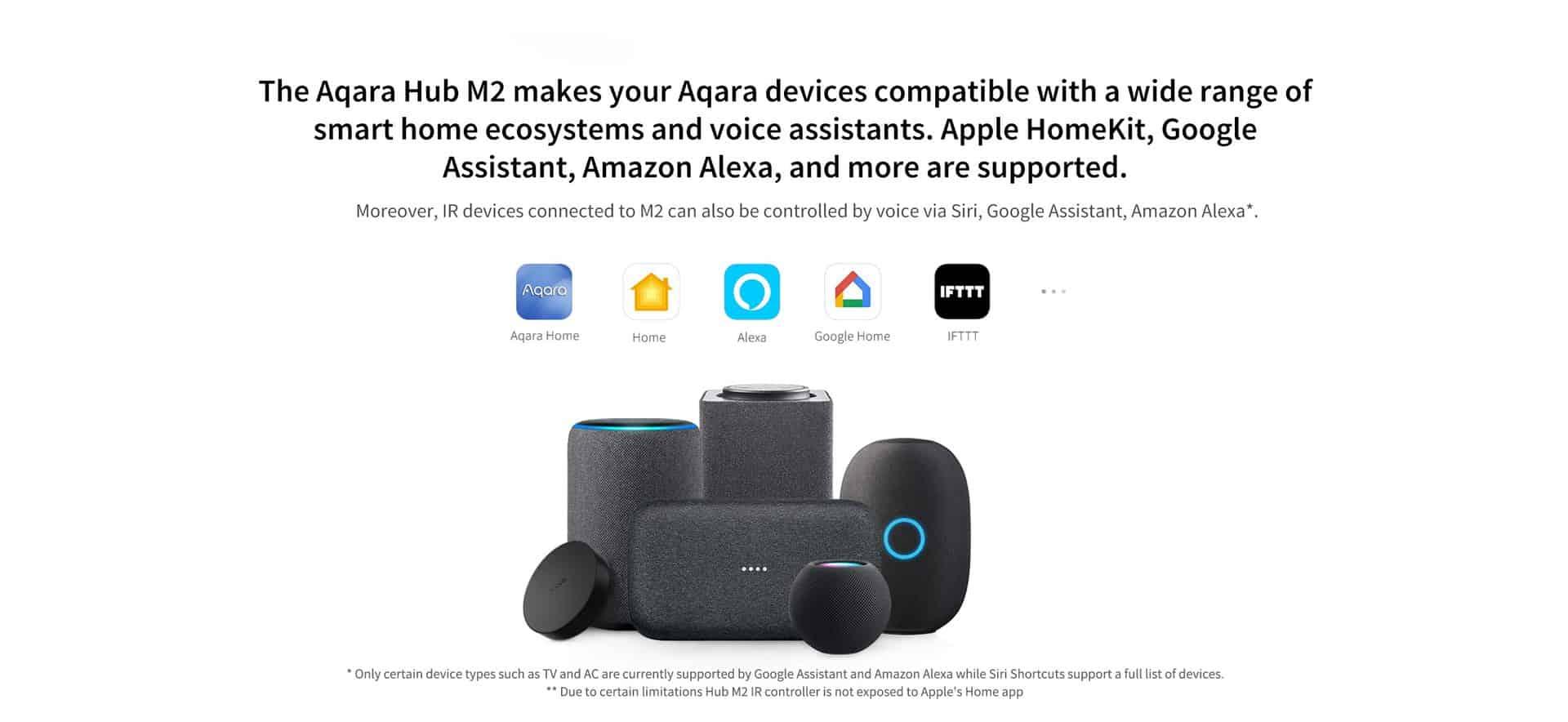 Aqara Hub M2 Smart Zigbee 3.0 và Bluetooth 3