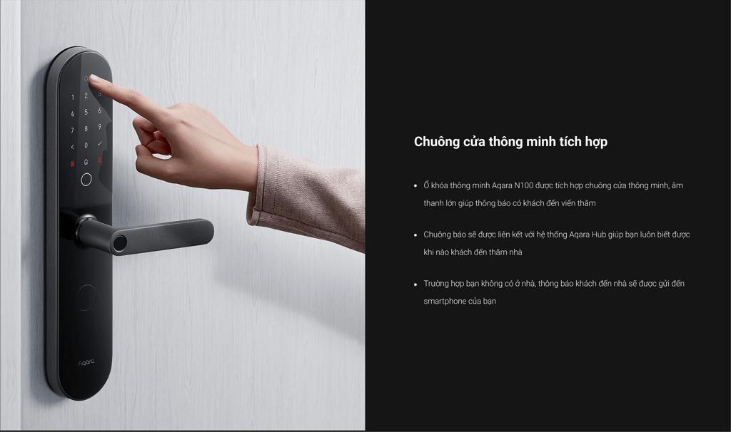 Khóa Thông Minh Aqara N100 Smart Door Lock ZNMS16LM Zigbee Edition 10